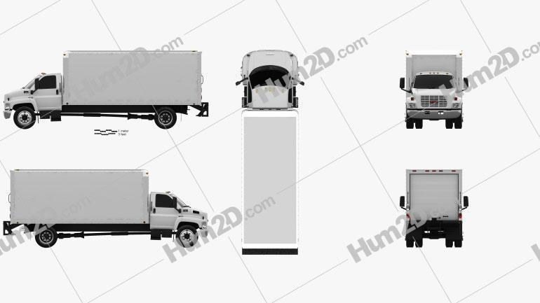 GMC Topkick C6500 Box Truck 2003 clipart