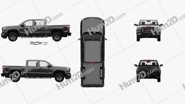 GMC Sierra 1500 Crew Cab Short Box AllTerrain with HQ interior 2017 car clipart