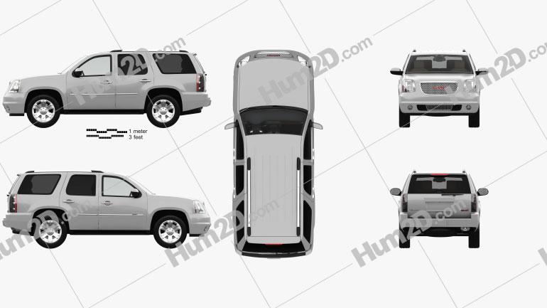 GMC Yukon Denali with HQ interior 2012 car clipart