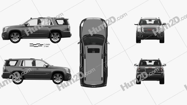 GMC Yukon Denali with HQ interior 2014 car clipart