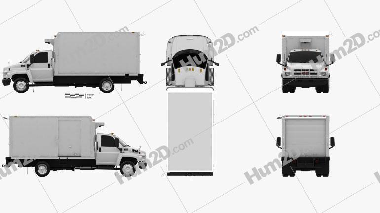 GMC Topkick C5500 Box Truck 2004 clipart