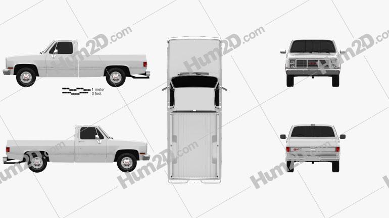 GMC Sierra 1985 car clipart