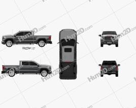 GMC Sierra 1500 Crew Cab Short Box Denali 2019