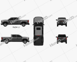 GMC Sierra 1500 Crew Cab Short Box AT4 2019