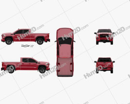 GMC Sierra 1500 Double Cab Standard Box Elevation 2019