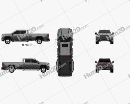 GMC Sierra HD Crew Cab Long Box Denali DRW 2019