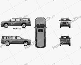 GMC Yukon XL com interior HQ 2014 car clipart