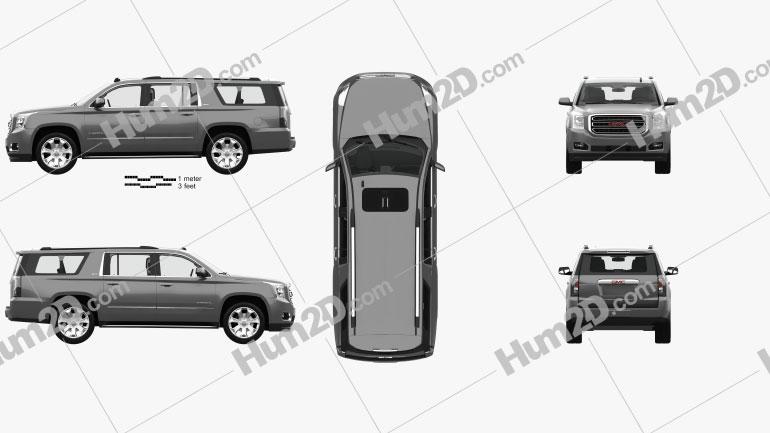 GMC Yukon XL with HQ interior 2014 car clipart
