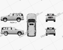 GMC Yukon SLT mit HD Innenraum und Motor 2014 car clipart