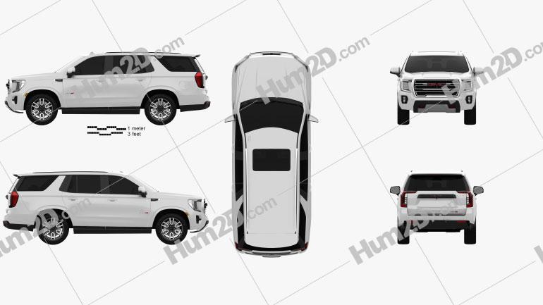 GMC Yukon AT4 2021 car clipart