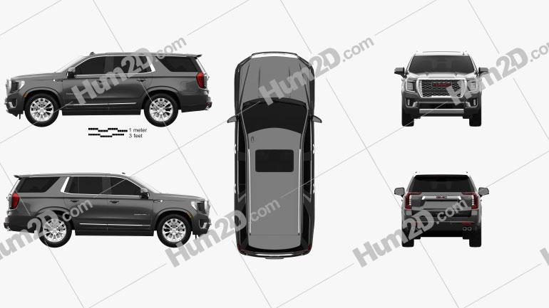 GMC Yukon Denali 2021 car clipart