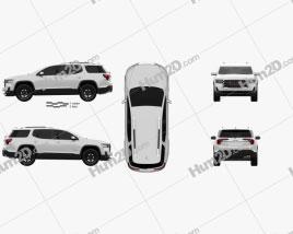 GMC Acadia AT4 2019 car clipart
