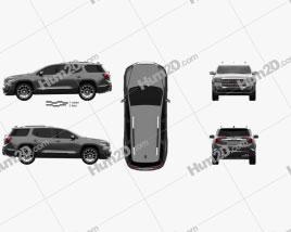 GMC Acadia Denali 2020 car clipart