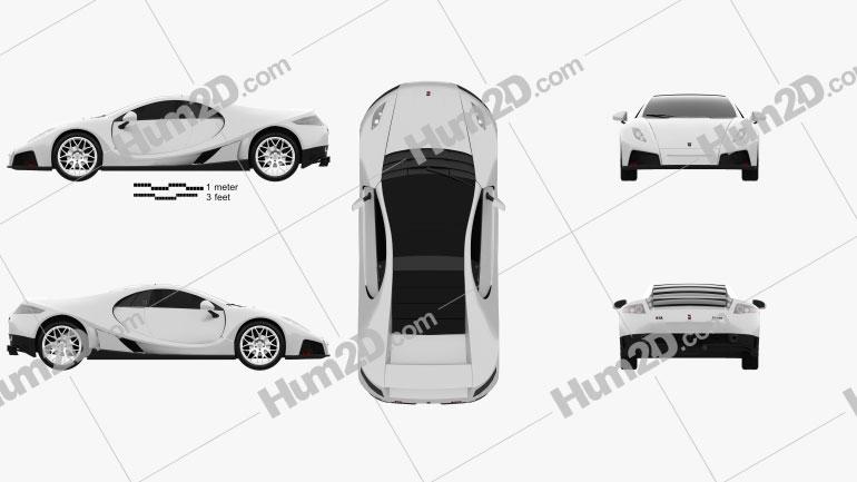 GTA Spano 2013 car clipart