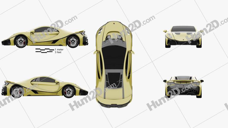GTA Spano 2015 car clipart