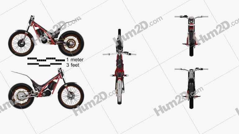 GasGas TXT E 4820 2014 Motorcycle clipart