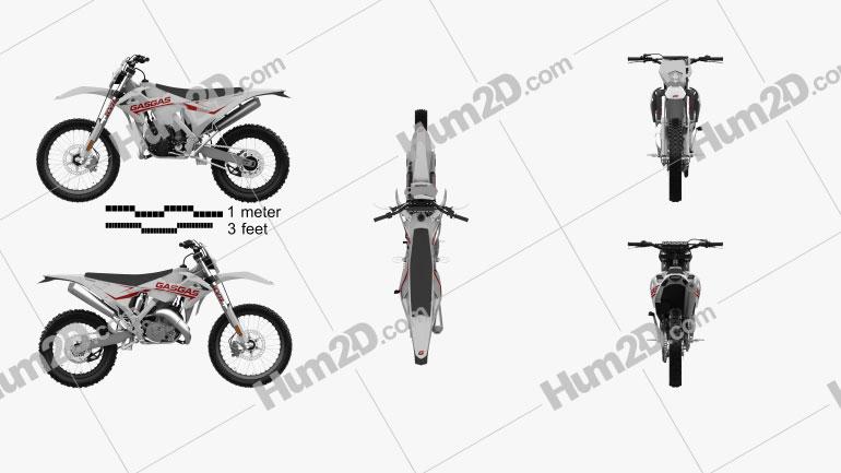 GasGas 200-300 Enduro EC 2019 Motorcycle clipart