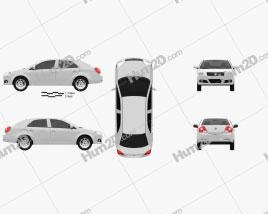 Geely MK sedan 2009 car clipart