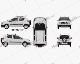 Geely LC Cross (Panda) 2012 car clipart