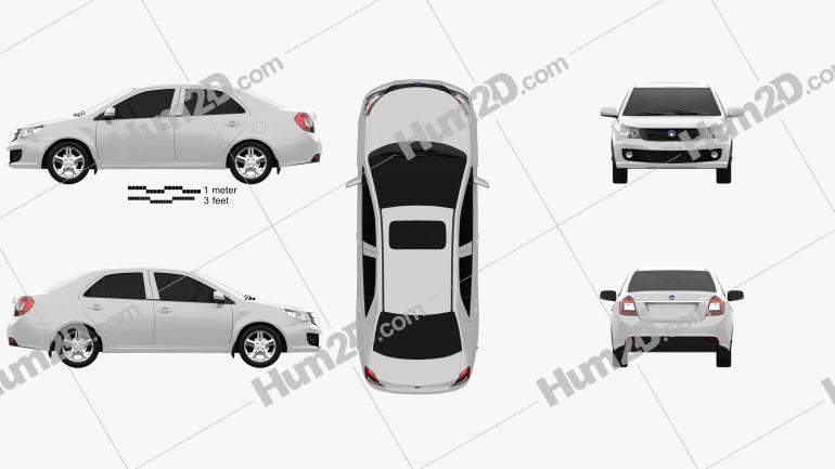 Geely GC6 2014 car clipart