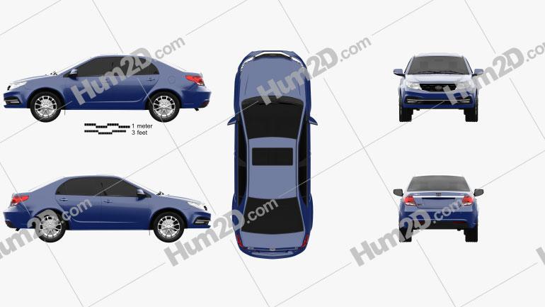 Geely GC7 Vision 2015 car clipart