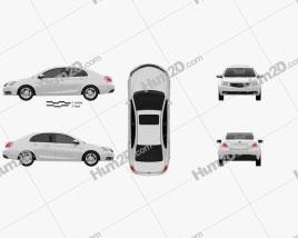 Geely Emgrand EC7 2014 car clipart