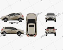 Geely Vision X3 2017 car clipart