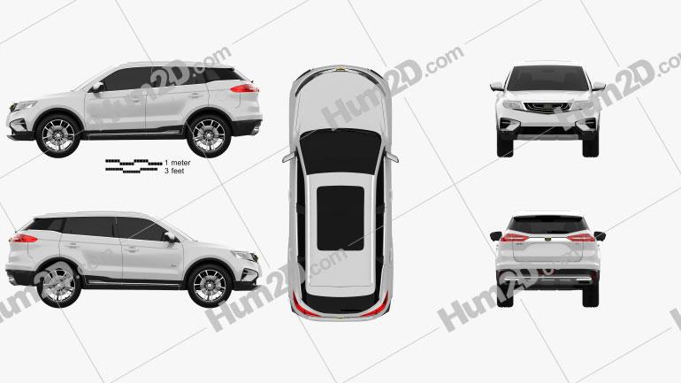 Geely Emgrand Boyue 2018 car clipart