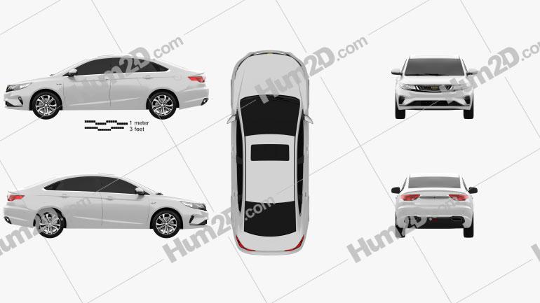 Geely Emgrand GL 2018 car clipart