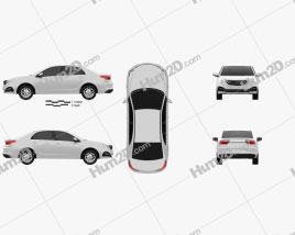 Geely Vision 2018 car clipart