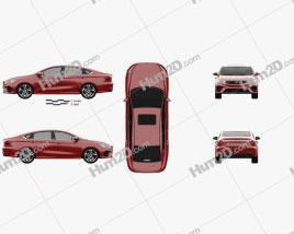 Geely Binrui 2018 car clipart