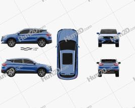 Geely Binyue PHEV 2019 car clipart