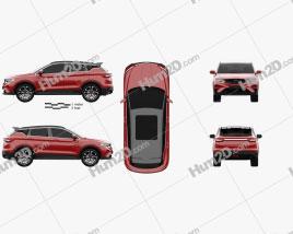 Geely Binyue Sport 2018 car clipart