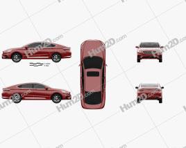 Geely Borui GE 2018 car clipart