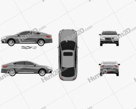 Geely Borui GE 2017 car clipart