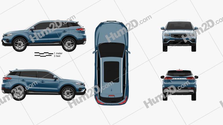 Geely Boyue Pro 2019 car clipart