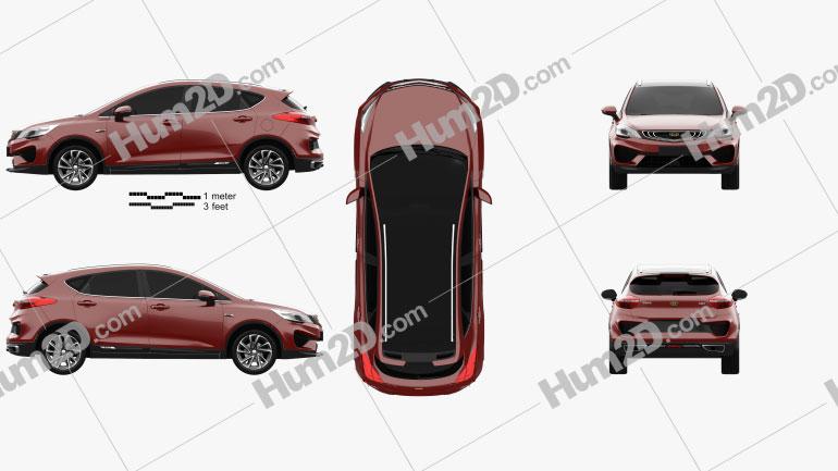 Geely Emgrand GS Fashion 2018 car clipart