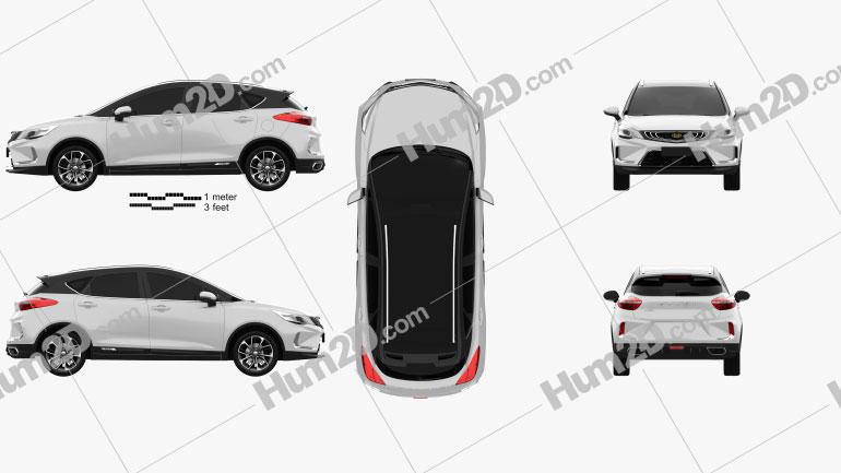 Geely Emgrand GS Dynamic 2019 car clipart