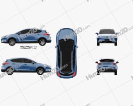 Geely Emgrand GS e 2018 car clipart