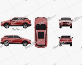 Geely Coolray 2019 car clipart
