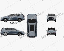 Geely Haoyue 2020 car clipart