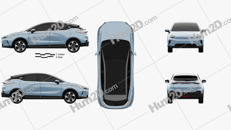 Geely GE13 2020 car clipart