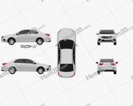 Geely Vision 2021 car clipart