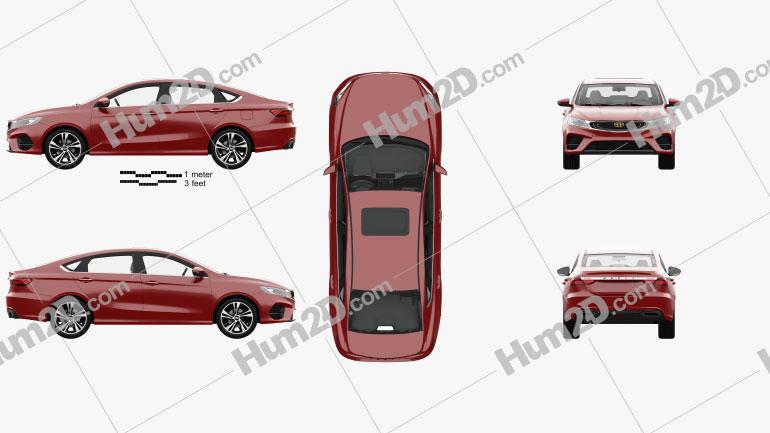 Geely BinRui com interior HQ 2018 car clipart