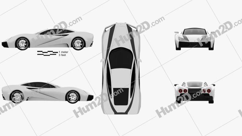 Generic Sport Car 2013 car clipart