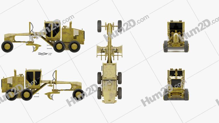 Generic Motor Grader Tractor clipart