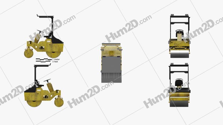 Generic Small Asphalt Compactor Clipart