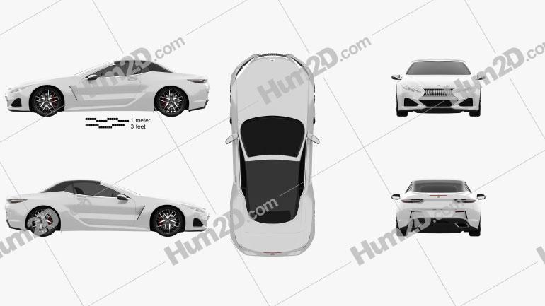 Generic convertible 2019 car clipart