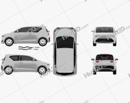 Generic hatchback 3-door 2012 car clipart
