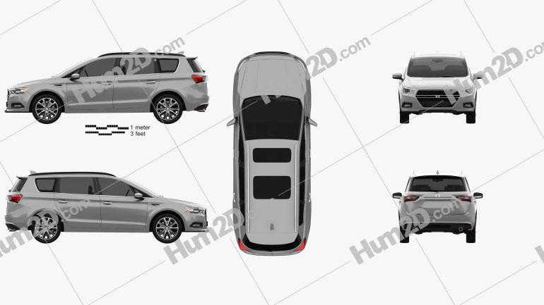 Generic minivan 2019 clipart